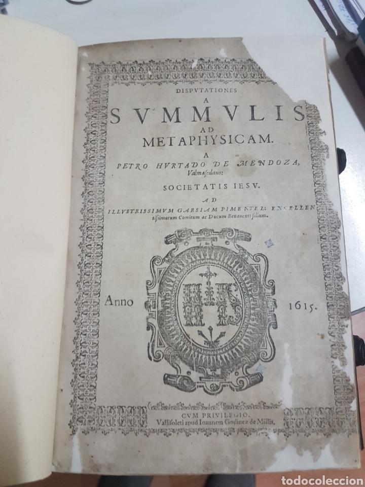 Libros antiguos: SUMMULIS AD METAPHYSICAM - Foto 3 - 194533552
