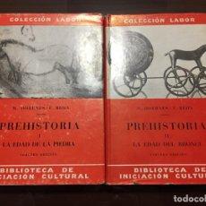Libros antiguos: PREHISTORIA 2 VOLÚMENES LABOR. Lote 194557358