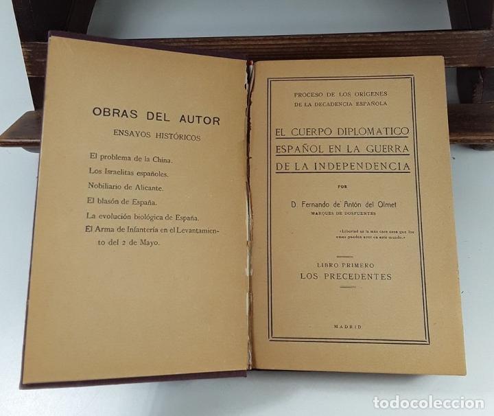Libros antiguos: EL CUERPO DIPLOMÁTICO ESPAÑOL EN LA GUERRA DE LA INDEPENDENCIA. 5 TOMOS. - Foto 7 - 194667208