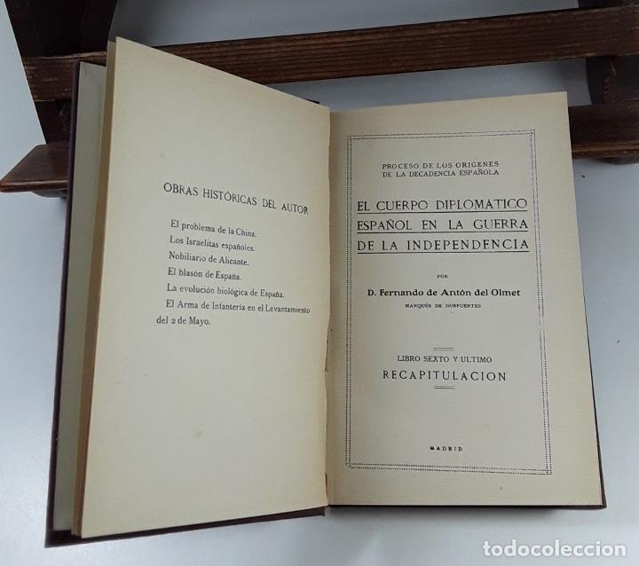 Libros antiguos: EL CUERPO DIPLOMÁTICO ESPAÑOL EN LA GUERRA DE LA INDEPENDENCIA. 5 TOMOS. - Foto 10 - 194667208
