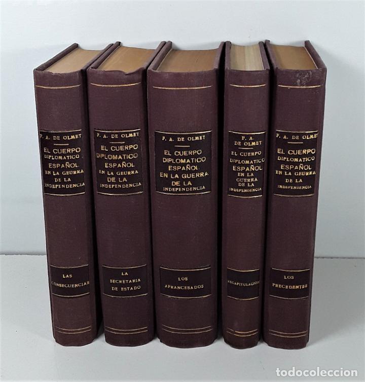 EL CUERPO DIPLOMÁTICO ESPAÑOL EN LA GUERRA DE LA INDEPENDENCIA. 5 TOMOS. (Libros antiguos (hasta 1936), raros y curiosos - Historia Antigua)