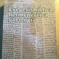 Libros antiguos: EXÉGESIS BÍBLICA, HERMENÉUTICA Y TEOLOGÍA. J.M. CASCIARO. Lote 194785120