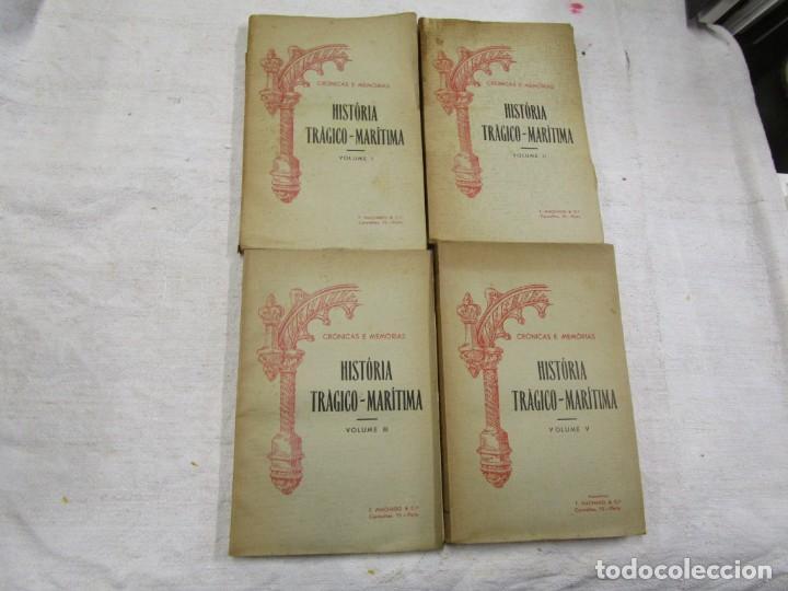 HISTORIA TRAGICO MARITIMA, CRONICAS E MEMORIAS - BERNARDO GOMES DE BRITO - PORTO 1937 4 TOMOS +INFO (Libros antiguos (hasta 1936), raros y curiosos - Historia Antigua)