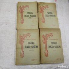 Libros antiguos: HISTORIA TRAGICO MARITIMA, CRONICAS E MEMORIAS - BERNARDO GOMES DE BRITO - PORTO 1937 4 TOMOS +INFO. Lote 194876260