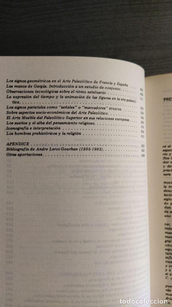 Libros antiguos: Símbolos, artes y creencias de la Prehistoria. A. Leroi Gourhan. Ediciones Istmo. - Foto 8 - 194881463
