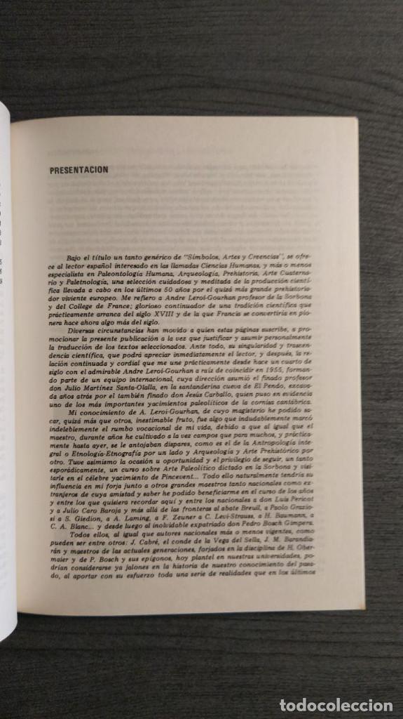 Libros antiguos: Símbolos, artes y creencias de la Prehistoria. A. Leroi Gourhan. Ediciones Istmo. - Foto 9 - 194881463