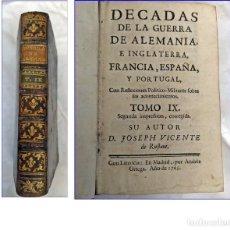 Libros antiguos: AÑO 1765: LIBRO ESPAÑOL DEL SIGLO XVIII: GUERRA DE ALEMANIA, INGLATERRA, FRANCIA, ESPAÑA Y PORTUGAL.. Lote 194946632