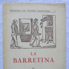 Libros antiguos: LA BARRETINA PER JOAN AMADES. Lote 194989385