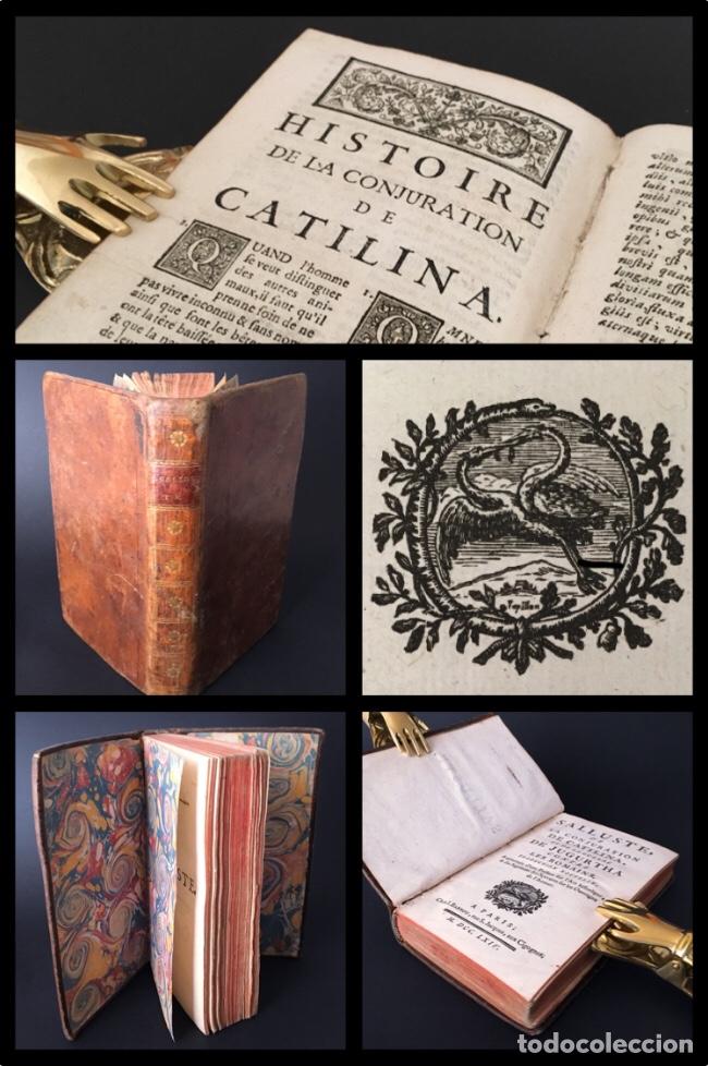 AÑO 1764 - SALUSTIO - LA CONJURACIÓN DE CATILINA - GUERRA DE YUGURTA - HISTORIA DE ROMA - 256 AÑOS. (Libros antiguos (hasta 1936), raros y curiosos - Historia Antigua)
