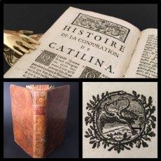 Libros antiguos: AÑO 1764 - SALUSTIO - LA CONJURACIÓN DE CATILINA - GUERRA DE YUGURTA - HISTORIA DE ROMA - 256 AÑOS.. Lote 195155308