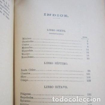 Libros antiguos: : VIDAS OPINIONES DE LOS FILÓSOFOS MÁS ILUSTRES LAERCIO TOMO 1 1914. - Foto 7 - 195231752