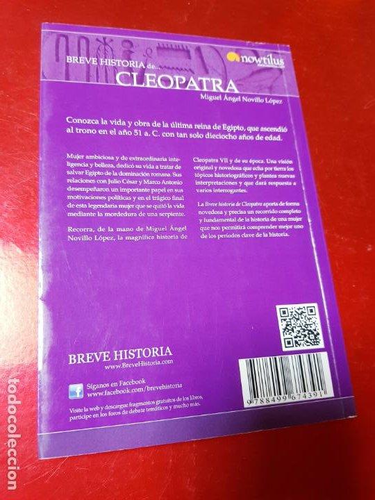 Libros antiguos: LIBRO-BREVE HISTORIA DE CLEOPATRA-MIGUEL ANGEL NOVILLO LÓPEZ-EDICIONES NOWTILUS S.L.-COMO NUEVO - Foto 3 - 195243108