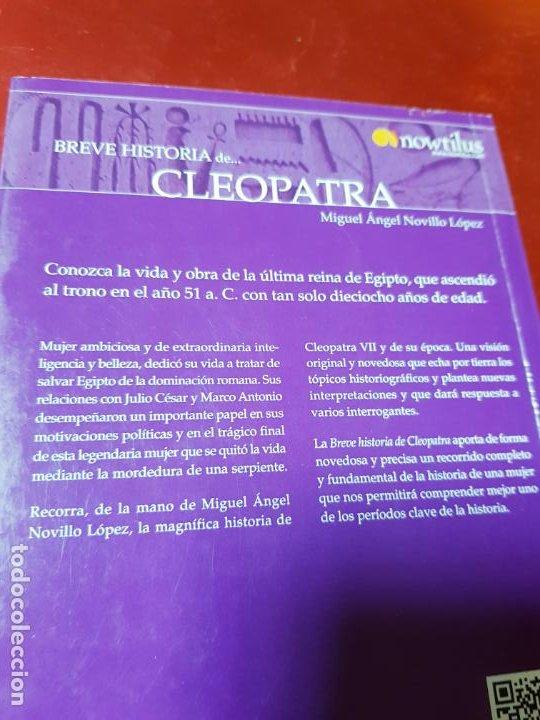 Libros antiguos: LIBRO-BREVE HISTORIA DE CLEOPATRA-MIGUEL ANGEL NOVILLO LÓPEZ-EDICIONES NOWTILUS S.L.-COMO NUEVO - Foto 4 - 195243108
