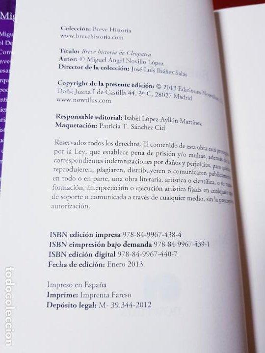 Libros antiguos: LIBRO-BREVE HISTORIA DE CLEOPATRA-MIGUEL ANGEL NOVILLO LÓPEZ-EDICIONES NOWTILUS S.L.-COMO NUEVO - Foto 5 - 195243108