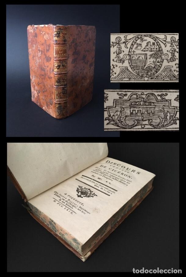 AÑO 1769 - LOS DISCURSOS DE CICERÓN - ROMA - ORATORIA - LATÍN - 251 AÑOS. (Libros antiguos (hasta 1936), raros y curiosos - Historia Antigua)