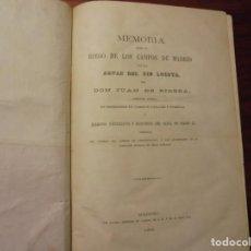 Libros antiguos: MADRID, RIO LOZOYA. RIEGOS. 1866. Lote 195271565