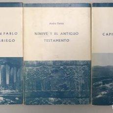 Libros antiguos: ENVÍO GRATIS. LAS RUTAS DE SAN PABLO, NINIVE Y EL ANT. TESTAMENTO Y SAMARIA CAPITAL DEL REINO ISRAEL. Lote 195280682