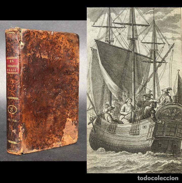1796 - EL HOMBRE FELIZ E INDEPENDIENTE - GRABADOS - CRUZADAS - MAPA (Libros antiguos (hasta 1936), raros y curiosos - Historia Antigua)