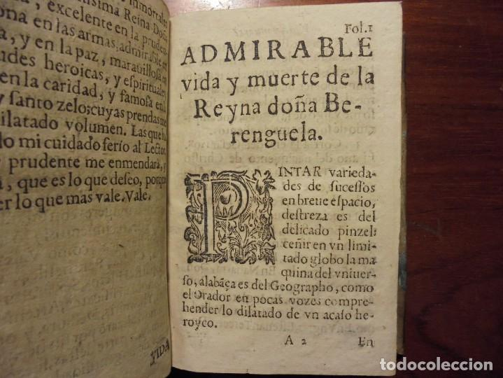 Libros antiguos: HISTORIA DE LA REINA DOÑA BERENGUELA. 1665. LUPIAN Y ZAPATA - Foto 6 - 195368545