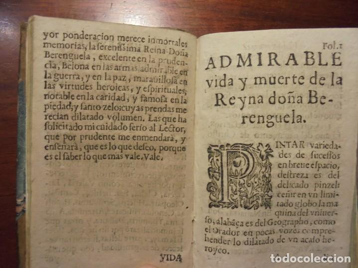 Libros antiguos: HISTORIA DE LA REINA DOÑA BERENGUELA. 1665. LUPIAN Y ZAPATA - Foto 8 - 195368545