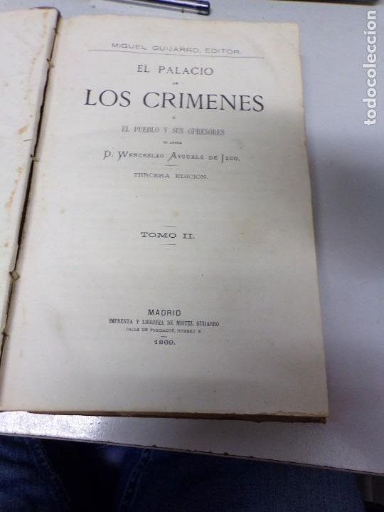 Libros antiguos: El palacio de los crimenes tomo segundo 1869 tercera edición - Foto 6 - 195406557