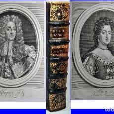 Libros antiguos: AÑO 1735: Hª DE INGLATERRA. 25 CM. CON MULTITUD DE RETRATOS DE REYES. SIGLO XVIII.. Lote 195512086