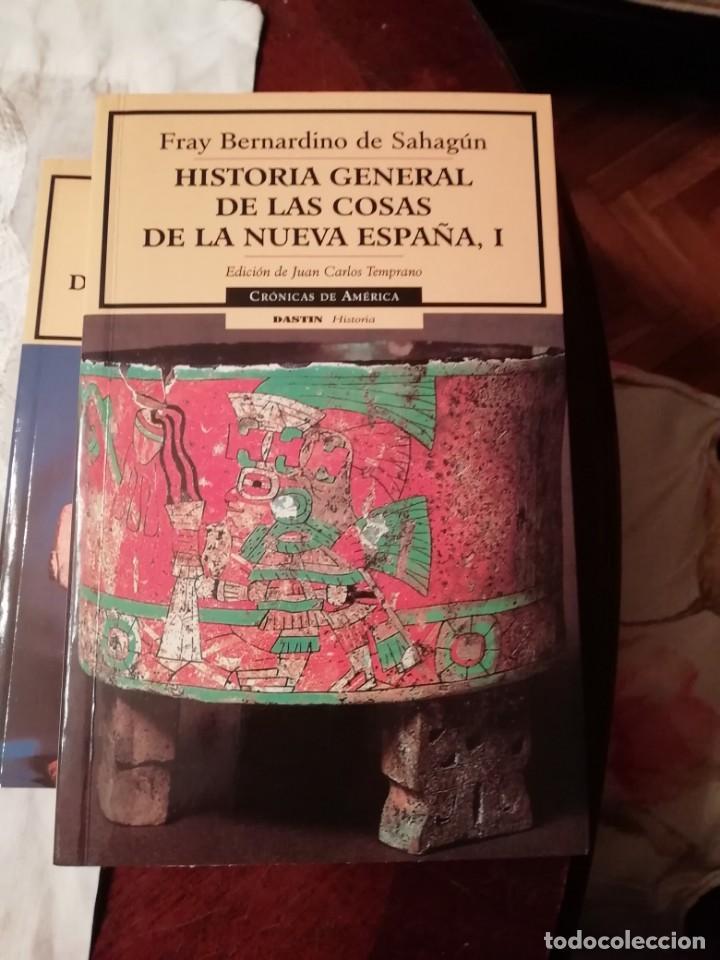HISTORIA GENERAL DE LAS COSAS DE LA NUEVA ESPAÑA DE FRAY BERNARDINO DE SAHAGÚN. DOS TOMOS (Libros antiguos (hasta 1936), raros y curiosos - Historia Antigua)