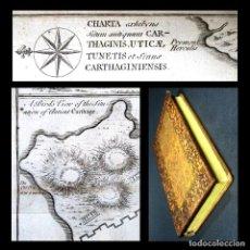 Libros antiguos: AÑO 1780 ANÍBAL CARTAGO GUERRAS PÚNICAS HISTORIA ANTIGUA CONSTANTINOPLA ROMA MAPA GRABADO DE CARTAGO. Lote 195883062