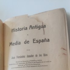 Libros antiguos: HISTORIA ANTIGUA Y MEDIA DE ESPAÑA JUAN FERNÁNDEZ AMADOR DE LOS RIOS. Lote 196175147