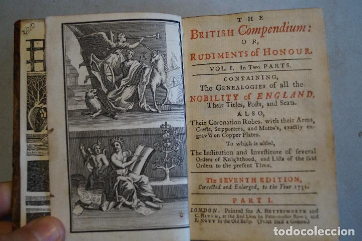 Libros antiguos: THE BRTITISH COMPENDIUM OR RUDIMENTS OF HONOUR. 1731 - Foto 10 - 197471362