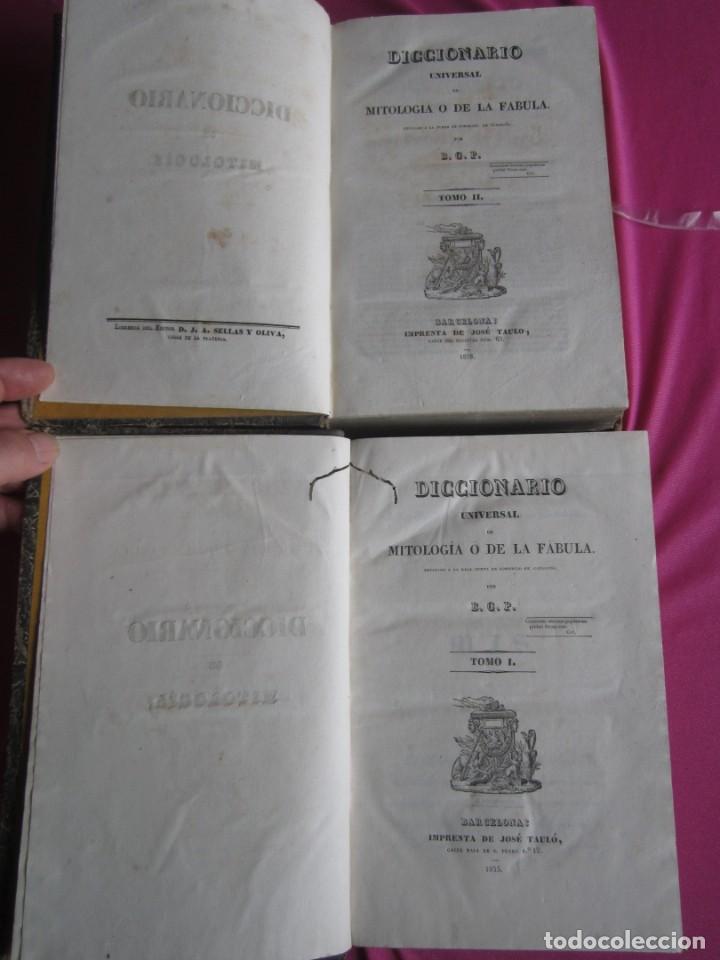Libros antiguos: MITOLOGIA Y DE LA FABULA DICCIONARIO UNIVERSAL 2 COMPLETO 1835 JOSE TAULO - Foto 4 - 198110752