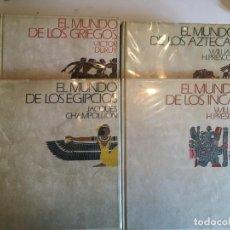 Libros antiguos: EL MUNDO DE LOS EGIPCIOS, INCAS,AZTECAS, GRIEGOS,WILLIAM PRESCOTT,VICTOR DURUY,JACQUES CHAMPOLLION. Lote 198423581
