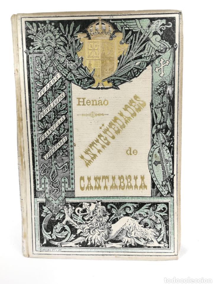 Libros antiguos: Averiguaciones de las antigüedades de Cantabria. - Foto 3 - 198832795
