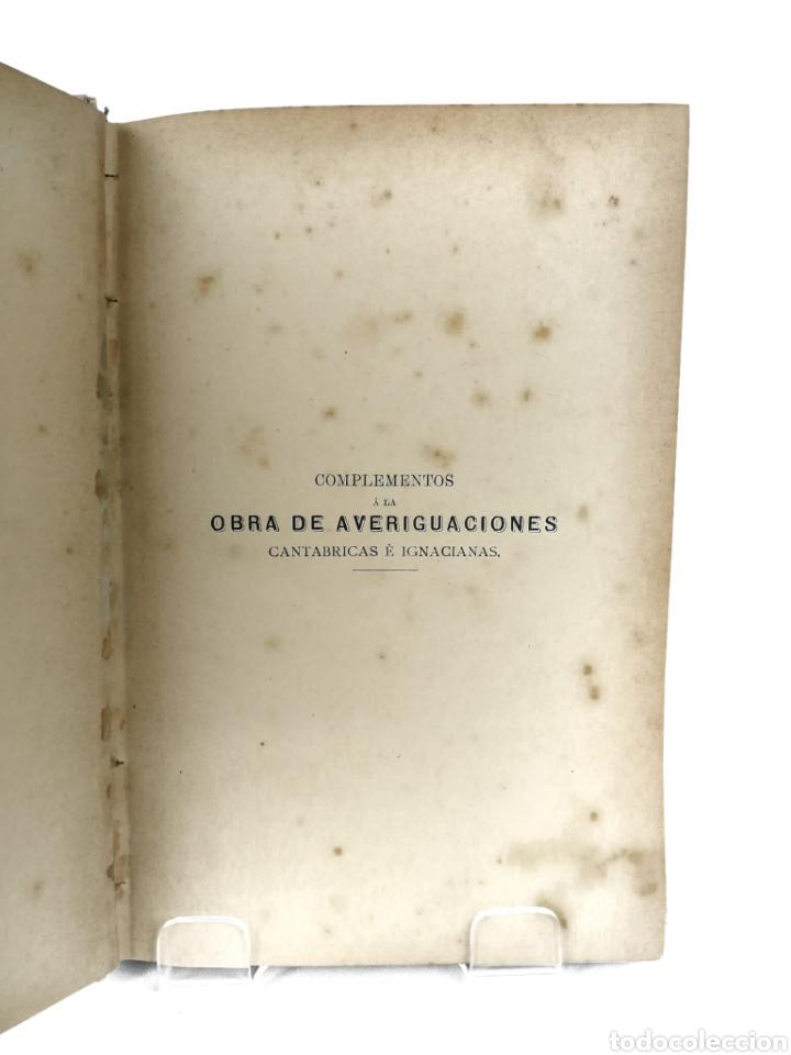 Libros antiguos: Averiguaciones de las antigüedades de Cantabria. - Foto 4 - 198832795