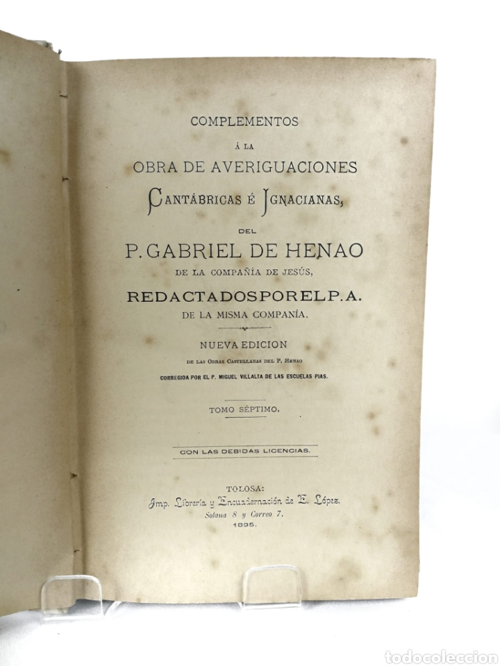 Libros antiguos: Averiguaciones de las antigüedades de Cantabria. - Foto 5 - 198832795