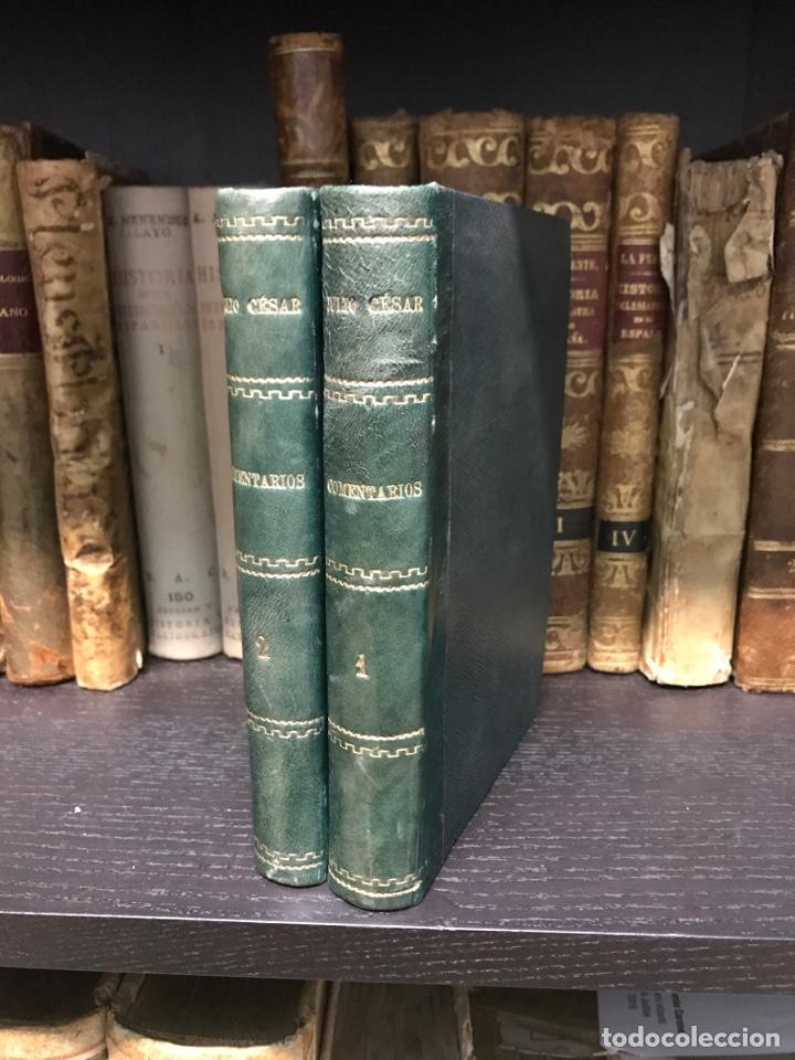 Libros antiguos: Los comentarios de Julio Cesar. Barcelona 1865 - Foto 2 - 198993456