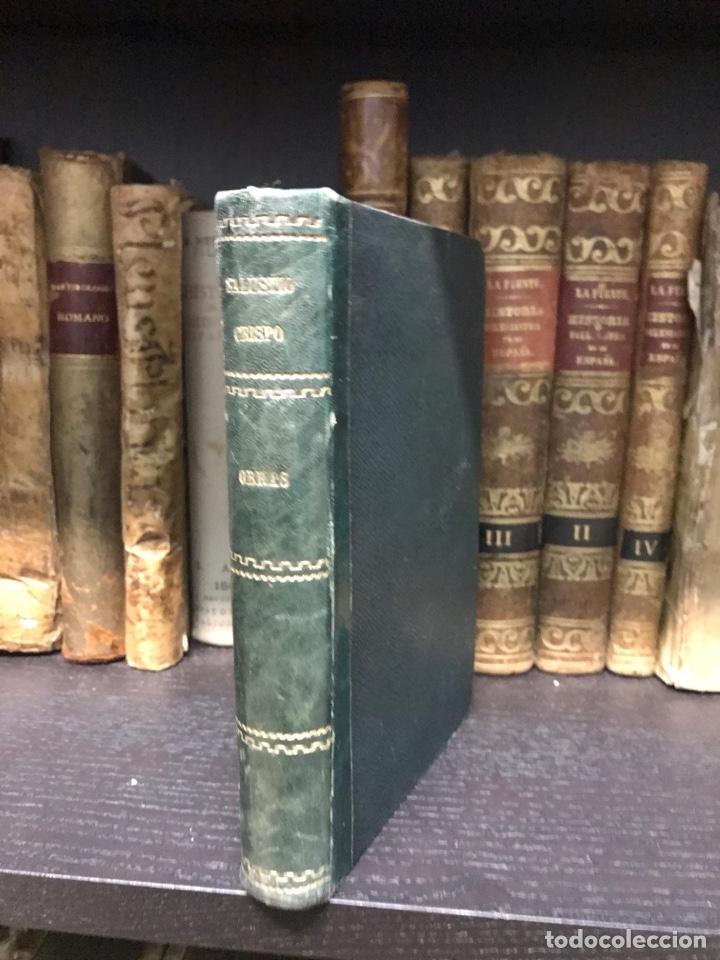 Libros antiguos: Obras de Cayo Salustio crispo. Barcelona 2865 - Foto 2 - 198993773