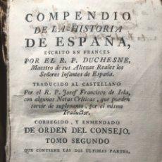 Livros antigos: COMPENDIO HISTORIA ESPAÑA. DUCHESNE.IBARRA. MADRID 1774. Lote 199051805