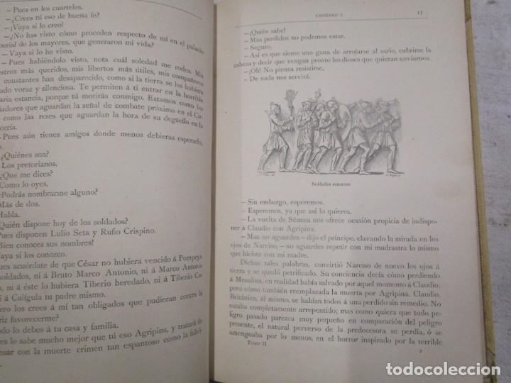 Libros antiguos: NERÓN, ESTUDIO HISTÓRICO - EMILIO CASTELAR - EDI MONTANER Y SIMÓN1892 TOMO II + INFO - Foto 5 - 199115103
