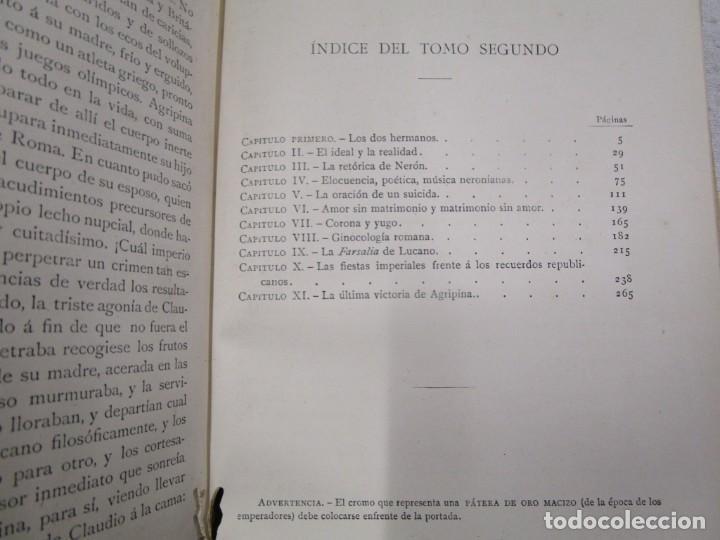 Libros antiguos: NERÓN, ESTUDIO HISTÓRICO - EMILIO CASTELAR - EDI MONTANER Y SIMÓN1892 TOMO II + INFO - Foto 6 - 199115103