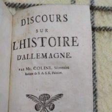 Libros antiguos: 1761. HISTORIA DE ALEMANIA. AMBROSIO COLINI (SECRETARIO DE VOLTAIRE).. Lote 199314882