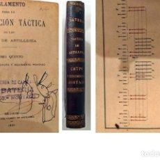 Libros antiguos: AÑO 1891. MADRID. INSTRUCCIÓN TÁCTICA DE LAS TROPAS DE ARTILLERÍA. ILUSTRADO.. Lote 200593318