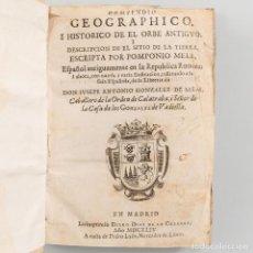 Libros antiguos: COMPENDIO GEOGRAPHICO I HISTÓRICO DE EL ORBE ANTIGUO, I DESCRIPCIÓN DE EL SITIO DE LA TIERRA - 1644. Lote 201231335