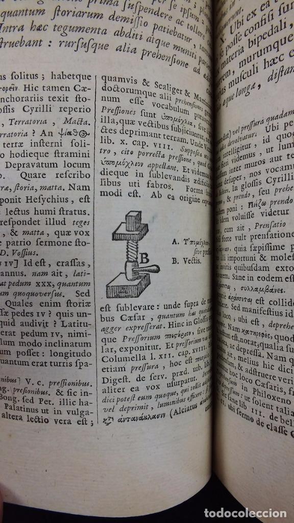 Libros antiguos: C. Julii Cæsaris quæ extant omnia.., 1713. Julio César. Frontispicio, grabados y mapas - Foto 22 - 201839792