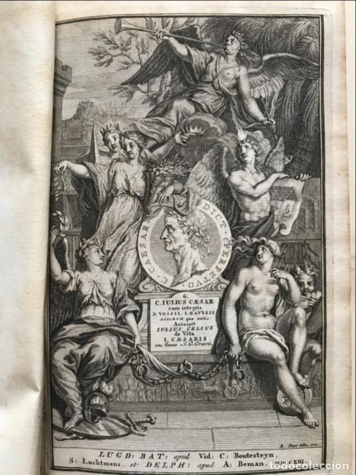 C. JULII CÆSARIS QUÆ EXTANT OMNIA.., 1713. JULIO CÉSAR. FRONTISPICIO, GRABADOS Y MAPAS (Libros antiguos (hasta 1936), raros y curiosos - Historia Antigua)