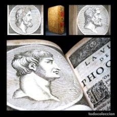 Libros antiguos: AÑO 1684 PLUTARCO VIDAS PARALELAS HOMBRES ILUSTRES ANTIGUA GRECIA Y ROMA CATÓN FILÓSOFO GRABADOS T6. Lote 109508519