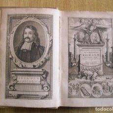Libros antiguos: ANTIQUITATUM ROMANARUM, LIBRI QUATOR, 1713. HENRICI KIPPINGII. GRABADOS. Lote 202670890