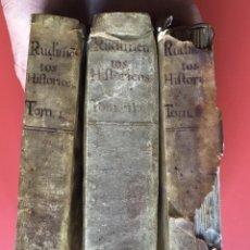 Libros antiguos: 1787 - RUDIMENTOS HISTORICOS - IMPRENTA DE BENITO CANO - PERGAMINO - 3 TOMOS. Lote 164960362