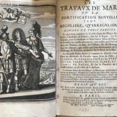 Libros antiguos: LES TRAVAUX DE MARS...TOMO I, 1671. PRIMERA EDICIÓN. ALAIN MANESSON MALLET. Lote 203244930