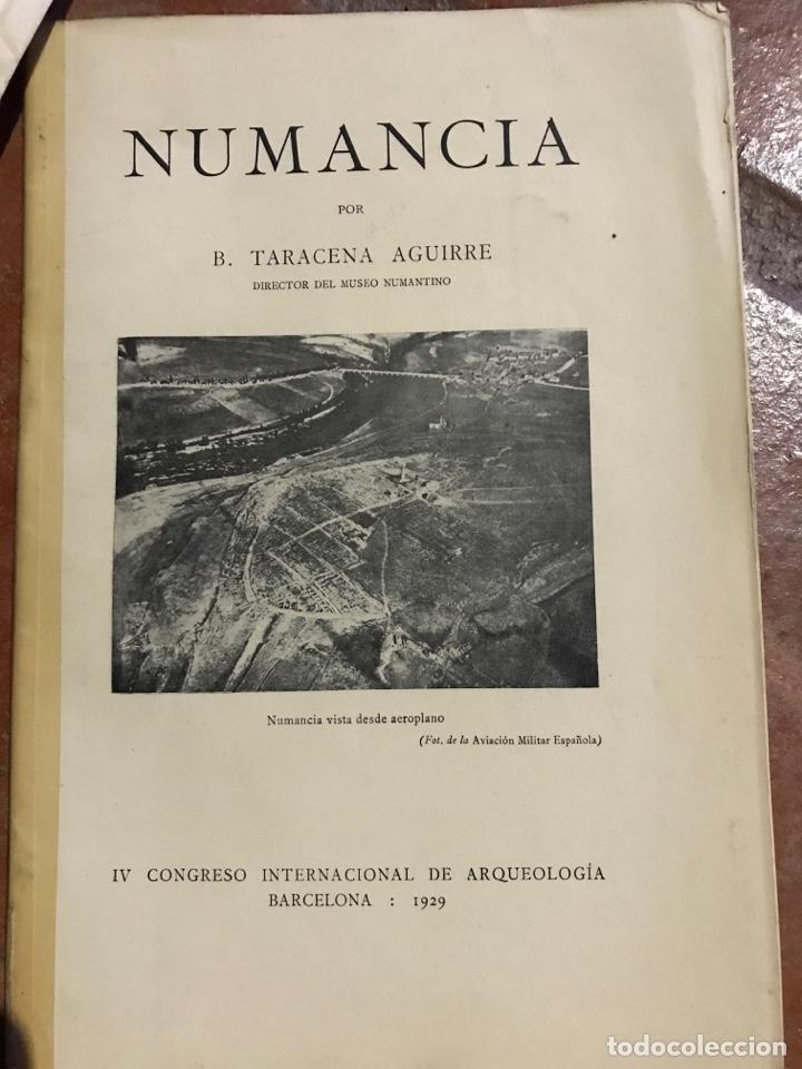 NUMANCIA POR B. TARACENA AGUIRRE 1929 (Libros antiguos (hasta 1936), raros y curiosos - Historia Antigua)